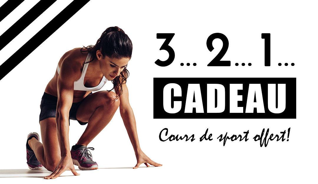 ÉVÉNEMENT – Votre cours de sport offert!